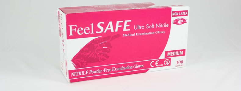 Feelsafe Powder Free Pink Nitrile Gloves