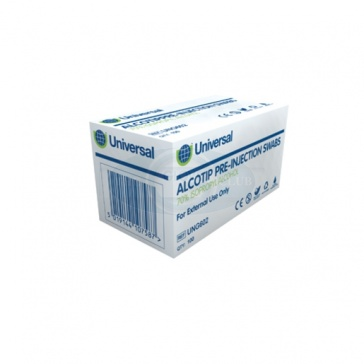 Alcotip Pre-Injection Swabs 70% Isopropyl Alcohol