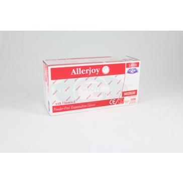 Allerjoy Powder Free Latex Gloves - 100 Gloves