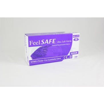 Feelsafe Powder Free Ultra Soft Nitrile Gloves Blue - 100 Gloves