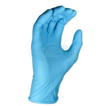 Powder Free Blue Nitrile Gloves - 100 Gloves