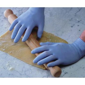 Powder Free Blue Latex Gloves
