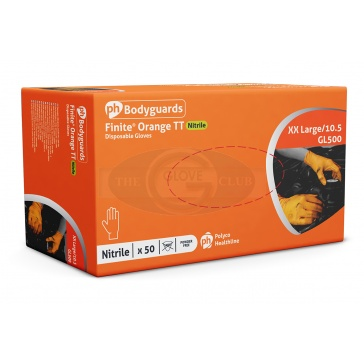 Orange Nitrile Powder Free Disposable Gloves