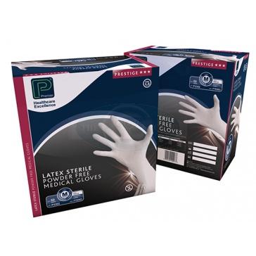 Sterile Powder Free  Latex Gloves - 100 Gloves