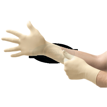 Ansell Micro-Touch Coated Latex Powder-Free Examination Gloves