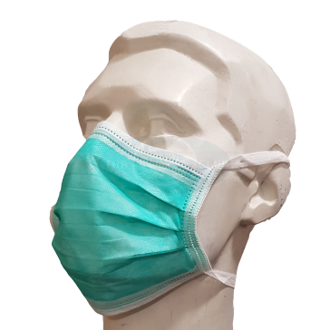 Tie-On Face Masks Green - Pack of 10