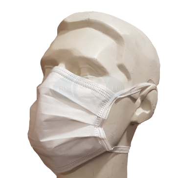 Tie-On Face Masks White - Pack of 10