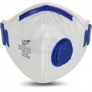 FFP2 Valved Flat Fold Mask x 10 - UCFD-P2V