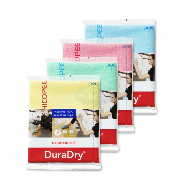 Chicopee DuraDry® Hygienic 100% Microfibre Wipe - Pack Of 5
