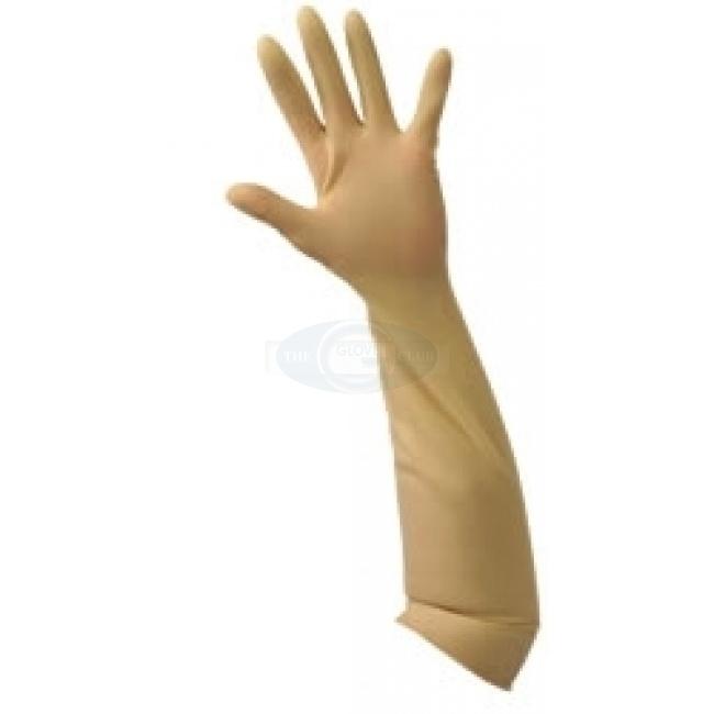 latex gauntlet gloves