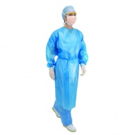 Long Sleeve Fluid Protection Gowns - Blue