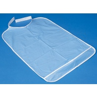 Blue Plastic Dental Bib With Velcro Fastening