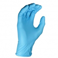 Powder Free Blue Nitrile Gloves - 100 Gloves