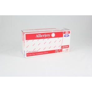 Allerjoy Lightly Powdered Latex Gloves - 100 Gloves