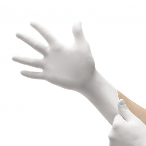 White Nitrile Gloves Powder Free