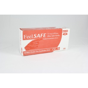 Feelsafe Powder Free Long Length Nitrile Gloves - 100 Gloves