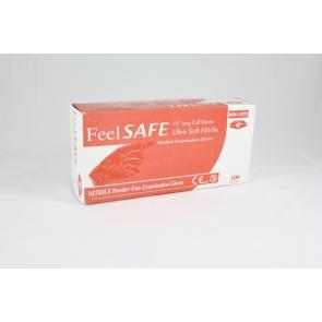 Feelsafe Powder Free Long Length Nitrile Gloves - 100 Gloves