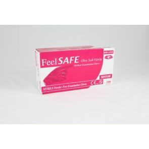 Feelsafe Powder Free Ultra Soft Nitrile Gloves Pink - 100 Gloves