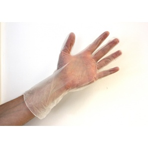 Simply Powder Free Long Length Vinyl Gloves - 50 Gloves