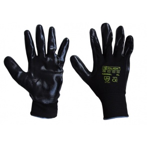 NITE STAR BLACK - Nitrile Coated Gloves