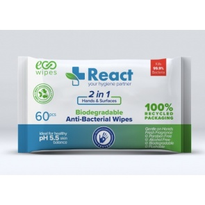 React Anti-Bacterial Wipes x 60