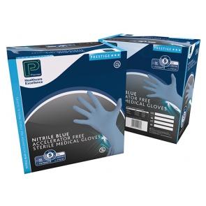 Sterile Powder Free Accelerator Free Nitrile Gloves - 100 Gloves
