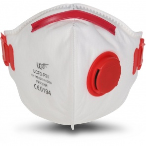FFP3 Valved Flat Fold Mask x 10 - UCFD-P3V