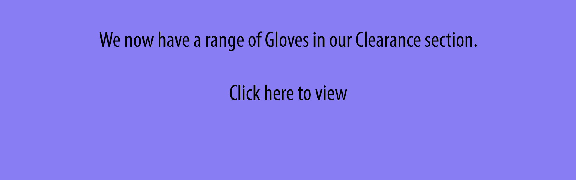 Clearance - Disposable Gloves