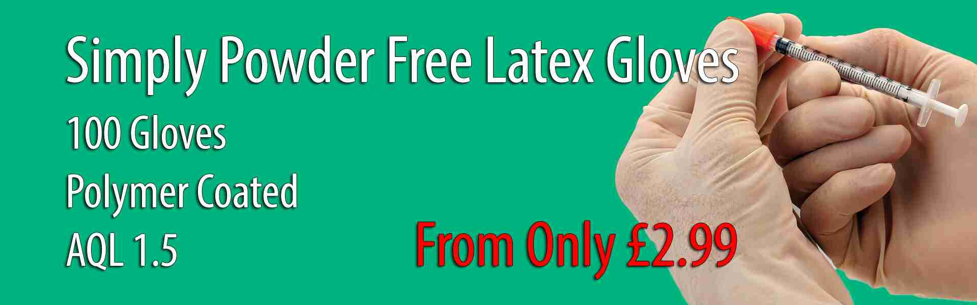 Simply Powder Free Latex Gloves